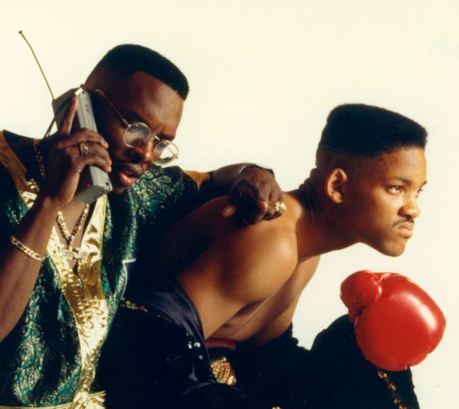 DJ Jazzy Jeff, (Jeffrey Townes,) left, and the Fresh Prince, (Will Smith) circa 1989. (Via MerlinFTP Drop)