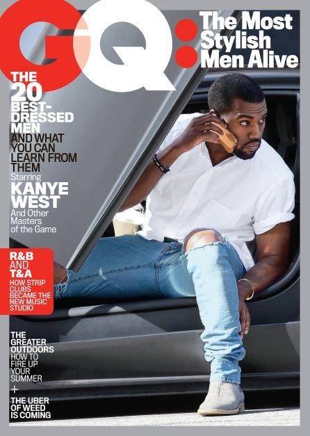 Kanye West na capa da revista GQ (2015)