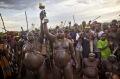 Cerimônia do Ka'el, em Bodi, Etiópia. Fotografia de Eric Lafforgue