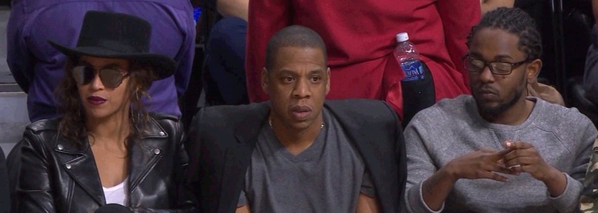 Beyonce-Jay-Z-Kendrick-Lamar-Courtside